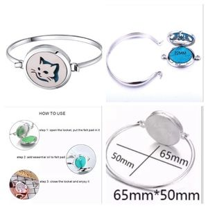 Jewelry - Cat Stainless Bracelet Essential Oil Diffuser